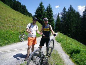 The inevitable puncture- John and Matt